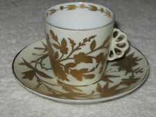 Antique/Vintage China Teacup & Saucer White and Gold Trim - Royal Vienna Austria