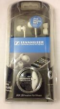 Sennheiser MM 50 IP White Ear Canal Headphone for iPhone - White  Genuine