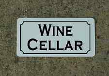 WINE CELLAR Sign Metel vintage retro look for Home Bar Restaurant Man Vineyard