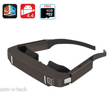 Private Theatre 2D/3D Cinema Android Video Glasses: 80' Inch Virtual Screen LCD