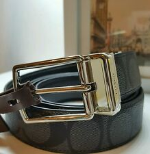 NWT COACH F64825 CUT-TO-SIZE REVERSIBLE SIGNATURE COATED CANVAS BELT