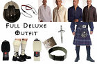 8 Yard Scottish Kilt Package, Complete Deluxe Casual Outfit Heritage of Scotland