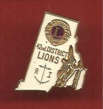 Pin's pin LIONS CLUB INTERNATIONAL 42nd.DISTRICT ANCRE DE MARINNE R.I