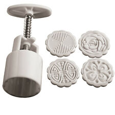 Mooncake Moon Cake Decoration Mold Mould Flowers Round 4 tools DIY