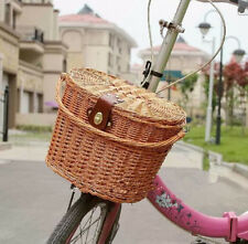 Wicker Bike Basket Bicycle Front Box Handlebar Large Size Carry Accessories Hot