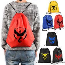 Pokemon Go Team Valor Mystic School Shoulder Bag Canvas Travel Bag New