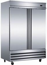 NEW Two 2 Door Commercial Stainless Reach In Freezer CFD-2FF Restaurant Cooler