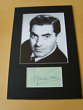 Tyrone Power Genuine Autograph - UACC / AFTAL.