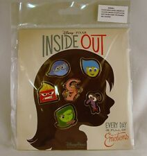 Disney Trading Pins INSIDE OUT  Every Day ... Emotions  Sealed Booster Set of 6