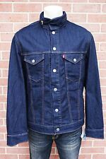 New Levis Mens Commuter Denim Jean Trucker Jacket Size L Rigid Indigo RP$148