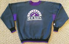 Vintage 90s Colorado Rockies Stitched Logo MLB Baseball Gray Unisex Sweater XL