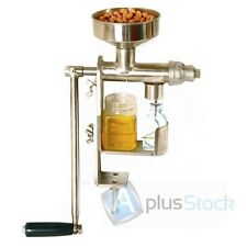 Manual Oil Press Peanut Nuts Seed Expeller Machine Oil Extractor ECO RAW Oil NEW