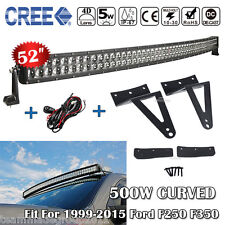 "52inch Curved LED Light Bar CREE 50"" & Mount Bracket Fit For Ford Ford F250 F350"