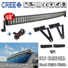 52inch 500W Curved LED Light Bar CREE + Mounting Bracket For Ford Ford F250 F350