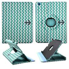 Tablet Green Chevron Anchor For Apple iPad Mini 1 2 3  360 Rota Case Cover Stand