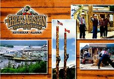 Great Alaskan Lumberjack Show Postcard Ketchikan Alaska Spruce Mill Waterfront