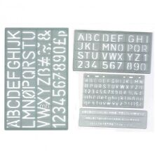 5mm 10mm 20mm et 30mm set 4 majuscules alphabet & nombre lettrage pochoir Craft