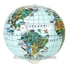 "16"" Inflatable Globe World Earth Planet Map Large Big Blow Up Air"