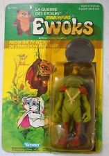 1985 Kenner Star Wars Ewoks Cartoon KING GORNEESH Action Figure Canada Card