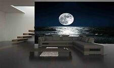MOON AND HIS  REFLECTION ON WATER Wallpaper GIANT WALL DECOR PAPER POSTER