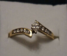 Marquise diamond engagment ring with small round accents, sz. 7.5