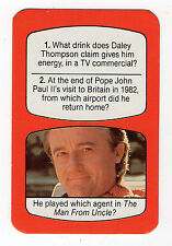 1980s UK TV Times Card Man From Uncle Napoleon Solo actor Robert Vaughn