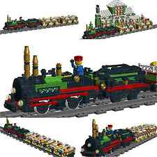 Lego Custom STEAM ENGINE No.3 for 9V with Wagons - Train - INSTRUCTIONS ONLY!!