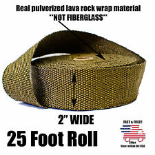 """THERMAL ZERO LAVA EXHAUST WRAP HEADER PIPE HEAT INSULATION TAPE ROLL 2"""" x 25 FT"""