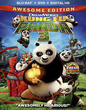 Kung Fu Panda 3 (Blu-ray/DVD, 2016, 2-Disc Set, Includes Digital Copy) FREE SH.