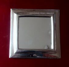 Hand Crafted*  MOROCCAN BEATEN METAL SILVER COLOUR  SQUARE MIRROR*