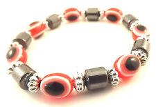 Mauvais oeil rouge bracelet khamsa main de fatima amulette argenté breloque