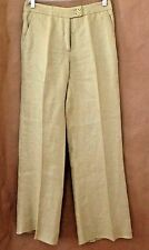 Crisp ETRO Pale Green 100% Linen Fly Front Drop Waist Made in Italy Pants 6/40