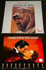 2x OST LP VINYL Lot LAWRENCE OF ARABIA Maur Jarre GONE WITH THE WIND Max Steiner