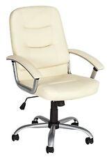 High Back Gas Lift Carter Office Chair Cream