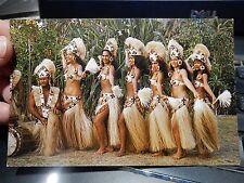 TAHITI EXOTIC  BELLY NUI DANCERS   ORIGINAL POSTCARD  1960 ERA