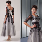 Lace Appique Bridesmaid Prom Dress Cocktail Evening Party Dress Stock Size 6-20