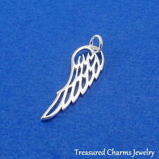 .925 Sterling Silver Openwork ANGEL WING CHARM PENDANT