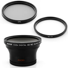Albinar  0.43x Wide Angle Fisheye Lens, Filters for Canon EOS Rebel T2i T4i 450D
