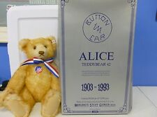 Steiff Alice Teddy Bear 42 1903-1993 1 of 5000 w/Box
