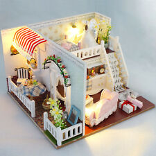 Kits Wood Dollhouse Miniature DIY House with Furniture Craft Xmas Gift Magaret
