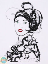 Cross Stitch Kit ~ Design Works Lady Colette B&W Vintage 1920s Woman #DW2730