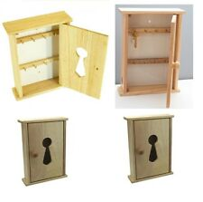 Beech Wood Wooden Wall Key Cupboard Cabinet Rack Holder Storage Box 8 Hooks