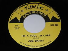 Joe Barry: I'm A Fool To Care / Don & Juan: Two Fools Are We 45