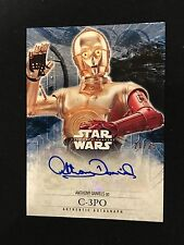 2016 Topps Star Wars C3PO 17 /25 Auto Anthony Daniels Force Awakens Autograph Sp