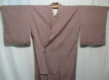 """Mauve Beauty"" Vintage Japanese Silk Woman's Tea Kimono Robe Collectible"