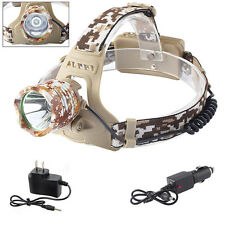 5000LM CREE XML XM-L T6 LED 18650 Headlamp Headlight Lamp Light + AC&Car Charger