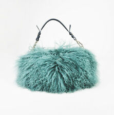 "Emporio Armani Runway Green Genuine Mongolian Lamb Fur ""Marabou"" Shoulder Bag"