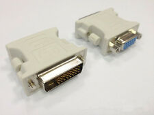 24+1 DVI Pin Male to 15 Pin VGA Female Adapter DVI-D Converter LCD White Trendy