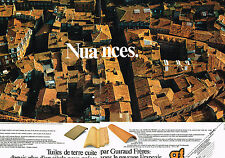 PUBLICITE ADVERTISING 054  1980  GUIRAUD FRERES  tuiles  ( 2 pages)