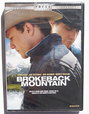 Brokeback Mountain 2005 romantic drama movie DVD Heath Ledger Anne Hathaway R